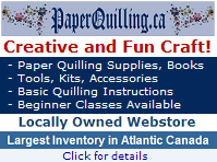 PaperQuilling.ca - Create amazing designs out of paper! Click here for more details about our local web store
